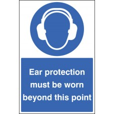 Floor Graphic - Ear Protection Must Be Worn