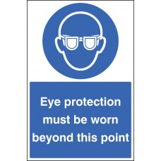Floor Graphic - Eye Protection Must Be Worn