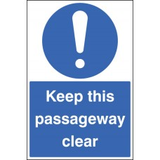 Floor Graphic - Keep this Passageway Clear