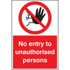 Floor Graphic - No Entry to Unauthorised Persons