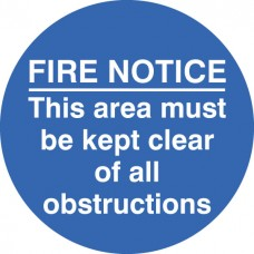 Floor Graphic - Fire Notice this Area Etc