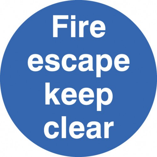 Floor Graphic - Fire Escape Keep Clear