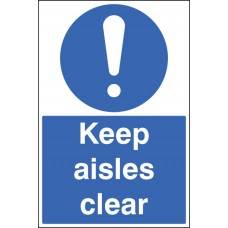 Floor Graphic - Keep Aisles Clear