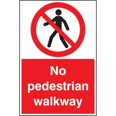Floor Graphic - No Pedestrian Walkway