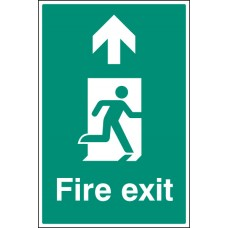 Floor Graphic - Fire Exit - Up / Straight on