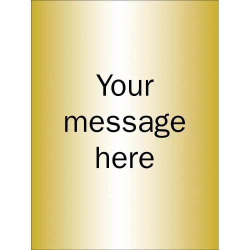 Design Your Own - Brushed Brass Effect Sign - 150 x 200mm