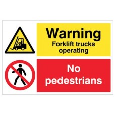 Floor Graphic - Warning - Forklift Trucks operating - no pedestrians
