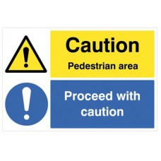 Floor Graphic - Caution - pedestrian area proceed with Caution -