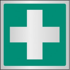 First Aid Symbol - Aluminium / Brass