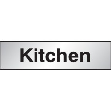 Deluxe Engraved Brass / Aluminium Effect - Kitchen Sign