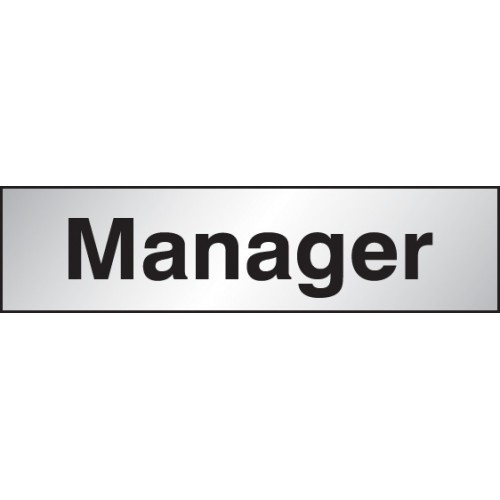 Manager - Engraved Aluminium Effect