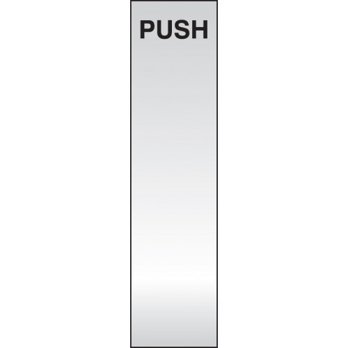 Push - Deluxe Engraved Door Plate