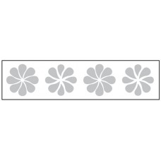 Glass Safety Highlighting Frosted Crystal Decals 150 x 1000mm Length - Flower