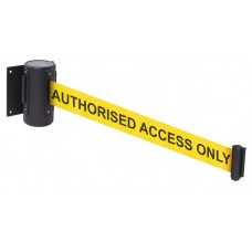4.6 Metre Retractable Wall Mounted Barrier - Wording Options