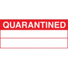 Roll of 100 x Quarantined Labels - 50 x 20mm