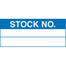 Roll of 100 x Stock Number Labels - 50 x 20mm