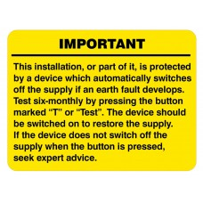 RCD Test Labels