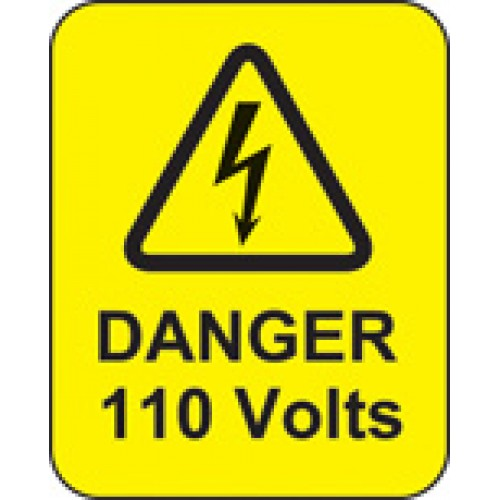 Danger - 110 Volts Labels