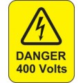 Danger 400 Volts Labels