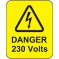 Danger 230 Volts Labels
