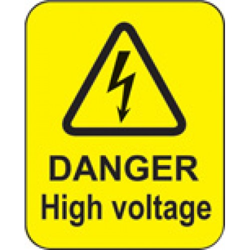 Danger - High Voltage Labels