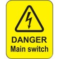 Danger - Main Switch Labels