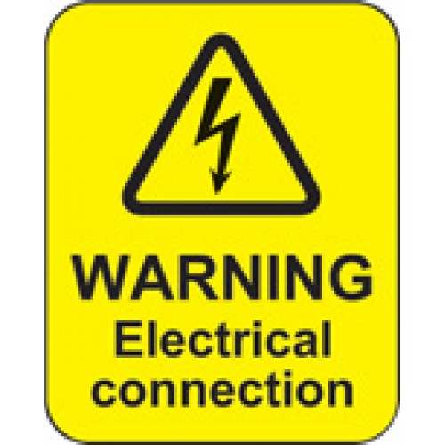 Warning Electrical Connection Labels