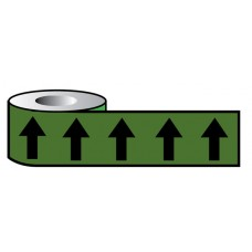 Pipeline ID Black Arrows On Green (12D45) - 50mm x 33m