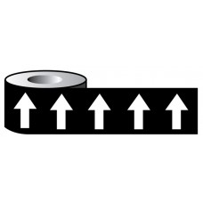 Pipeline ID White Arrows on Black (00E53) - 50mm x 33m