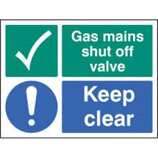 Gas Mains Shut Off Valve Keep Clear