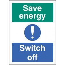 Self Adhesive Vinyl Energy Switch Off