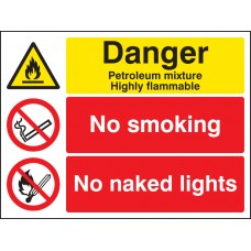 Petroleum Mixture No Smoking No Naked Light