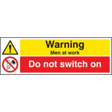 Warning - Men At Work Do Not Switch on