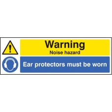 Warning - Noise Hazard Ear Protection Must Be Worn