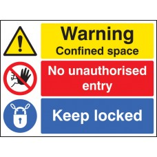 Warning - Confined Space No Entry Keep Locked