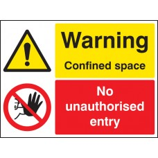 Warning - Confined Space No Unauthorised Entry