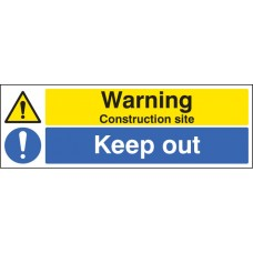 Warning - Construction Site Keep Out
