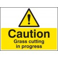 Caution - Grass Cutting in Progress