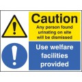 Caution - Any Person Found Urinating / use Welfare Facilities