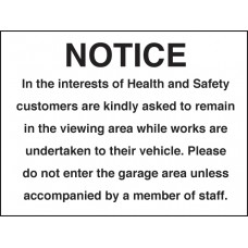 Notice - in the Interest of Health