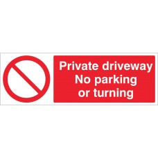 Private driveway - No parking or turning