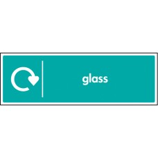 WRAP Recycling Sign - Glass