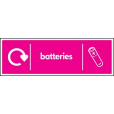 WRAP Recycling Sign - Batteries