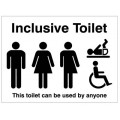 Inclusive toilet This toilet can be used by anyone