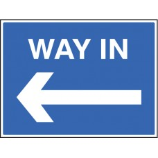 Way in - Arrow Left