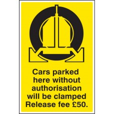Cars Parked Clamped - Release Fee ?50