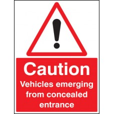 Caution - Vehicles Emerging From Concealed Entrance
