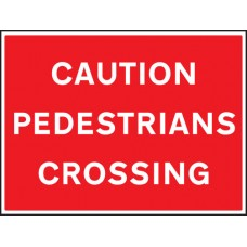 Caution - Pedestrians Crossing