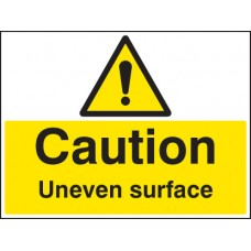 Caution - Uneven Surface