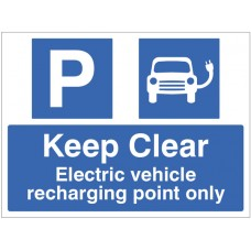 Keep Clear Electric Vehicle Recharging Point Only